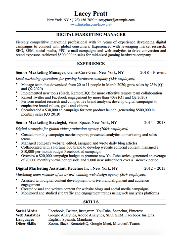 I Create Resume Templates For A Living Here S The Best Example For Landing An Interview