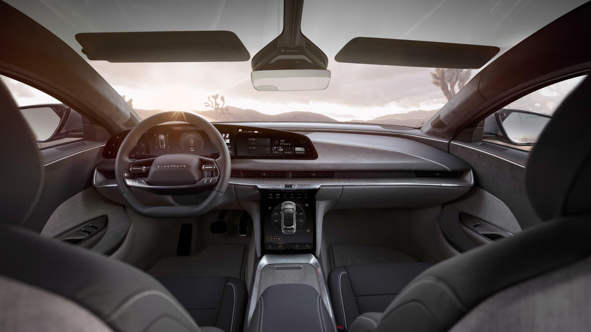 Interior of the Lucid Air sedan.