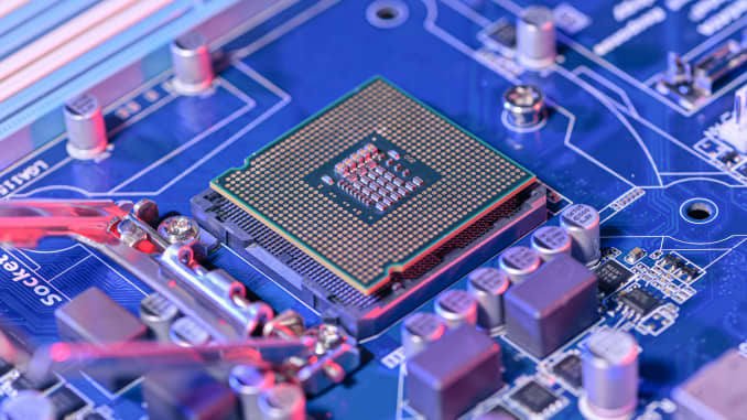 CPU socket and motherboard
