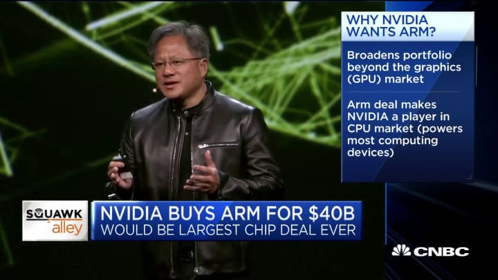 Here's how Nvidia's potential purchase of Arm could affect the Tech Sector