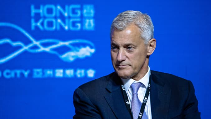 Bill Winters, chief executive officer of Standard Chartered, at the Asian Financial Forum 2020 in Hong Kong.
