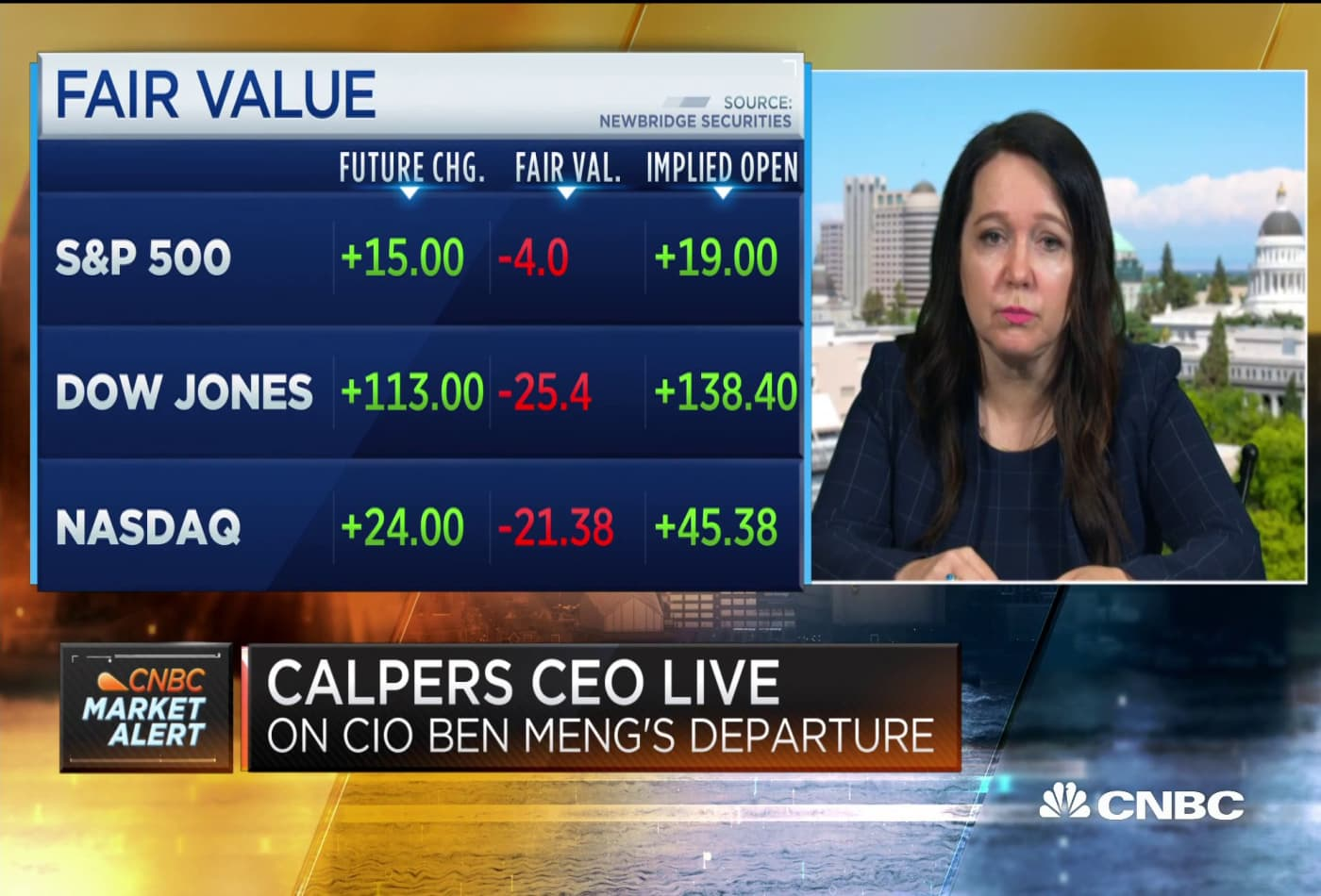 CalPERS CEO Marcie Frost on resignation of CIO Yu Ben Meng