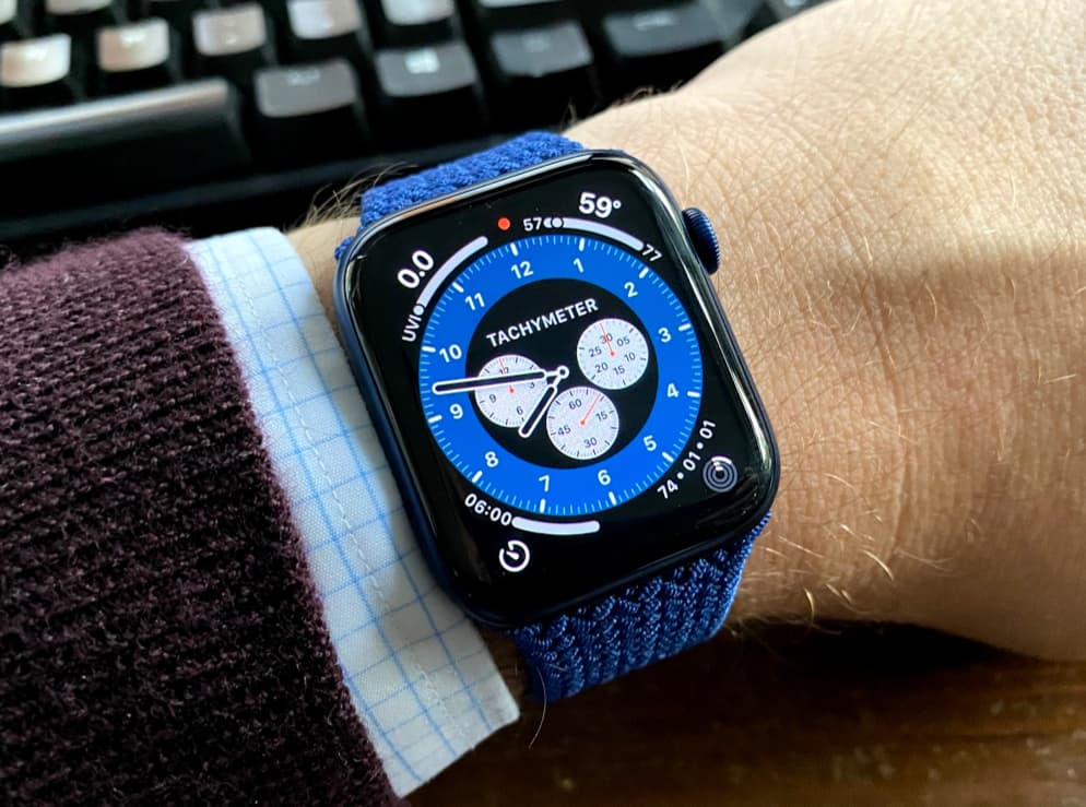 Apple Watch Series 6 hands-on with the blue model