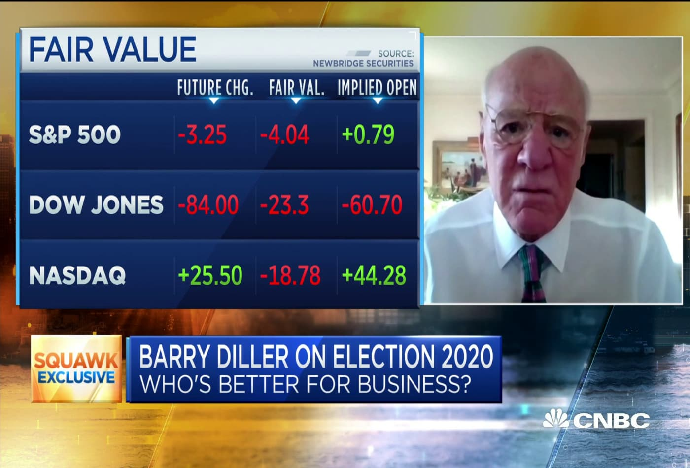Billionaire Barry Diller calls the stock market 'speculation,' urges everyone to save cash