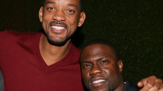 Will Smith and Kevin Hart attend NE-YO & Compound Entertainment 6th Annual GRAMMY Midnight Brunch at Lure on January 25, 2014 in Hollywood, California.
