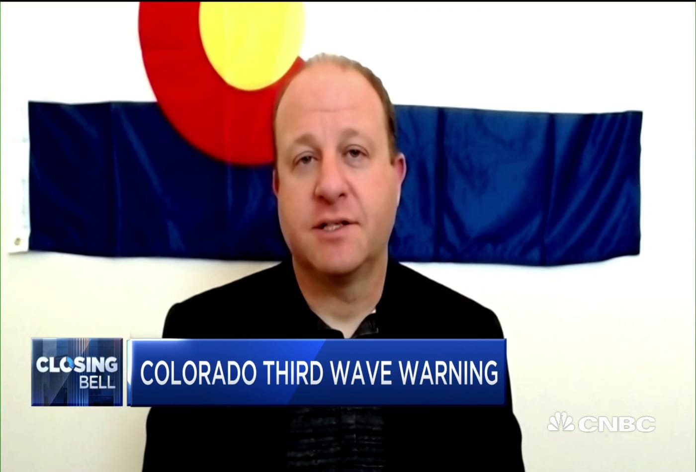 Colorado Governor on rise in Covid cases and how it could affect the state's economy