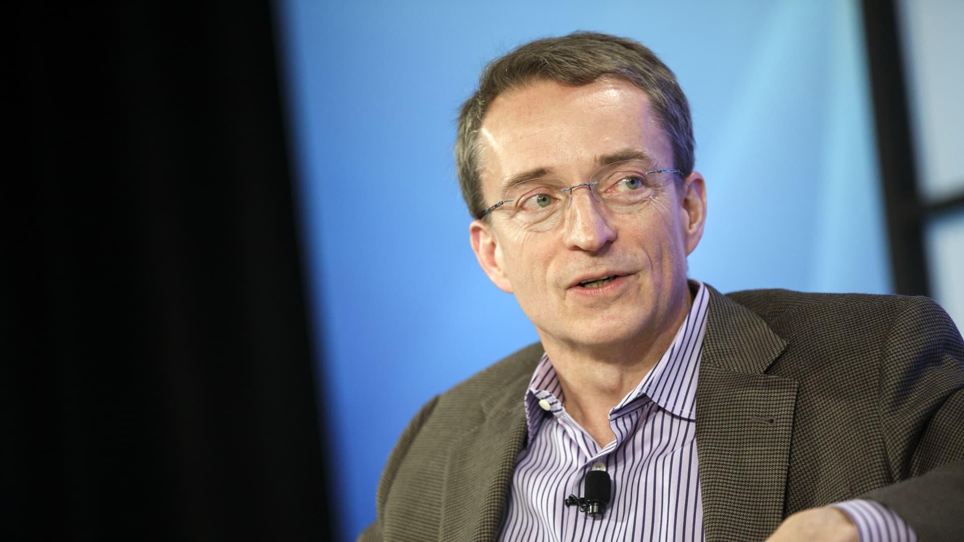 Pat Gelsinger, CEO of Intel, speaks in Santa Monica, Calif., on March 9, 2017, in a photo taken when he was CEO of VMware.