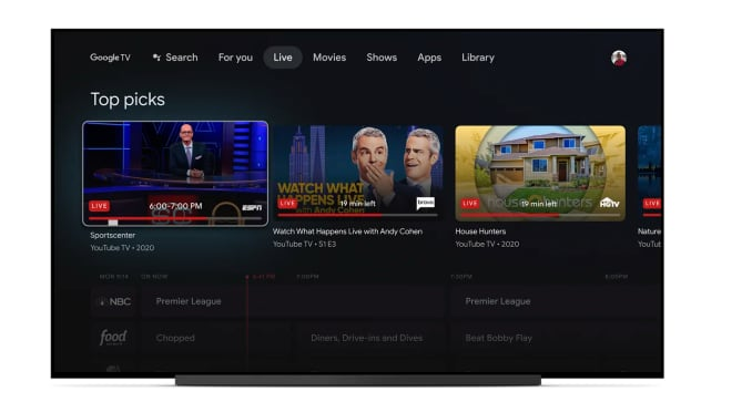 Программное обеспечение Google TV, работающее на Chromecast.