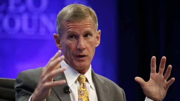 Former Gen McChrystal endorses Biden