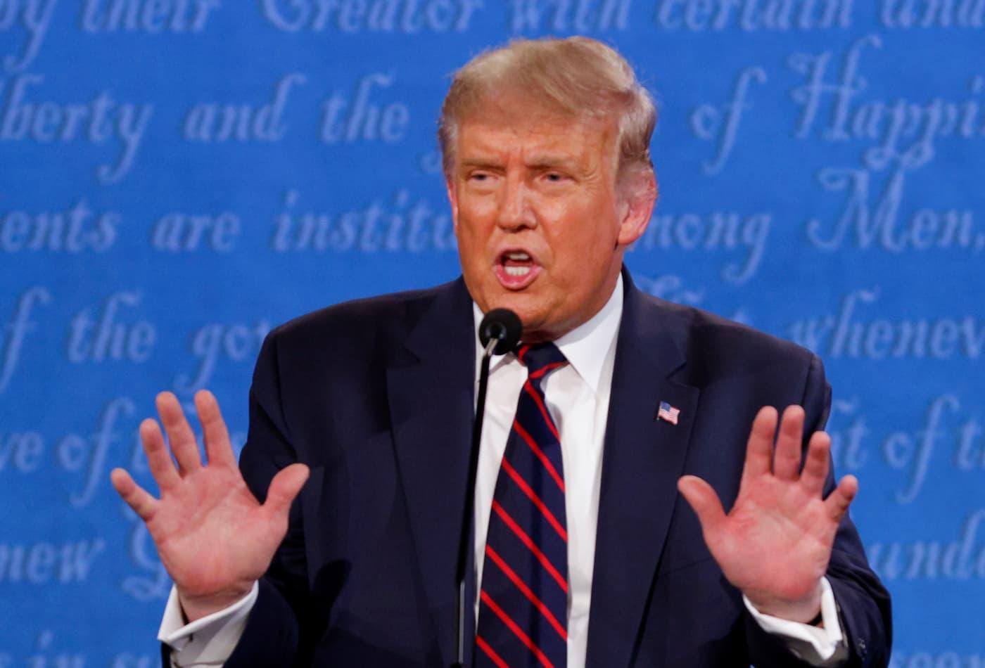 Trump says he will take coronavirus test before next debate with Joe Biden