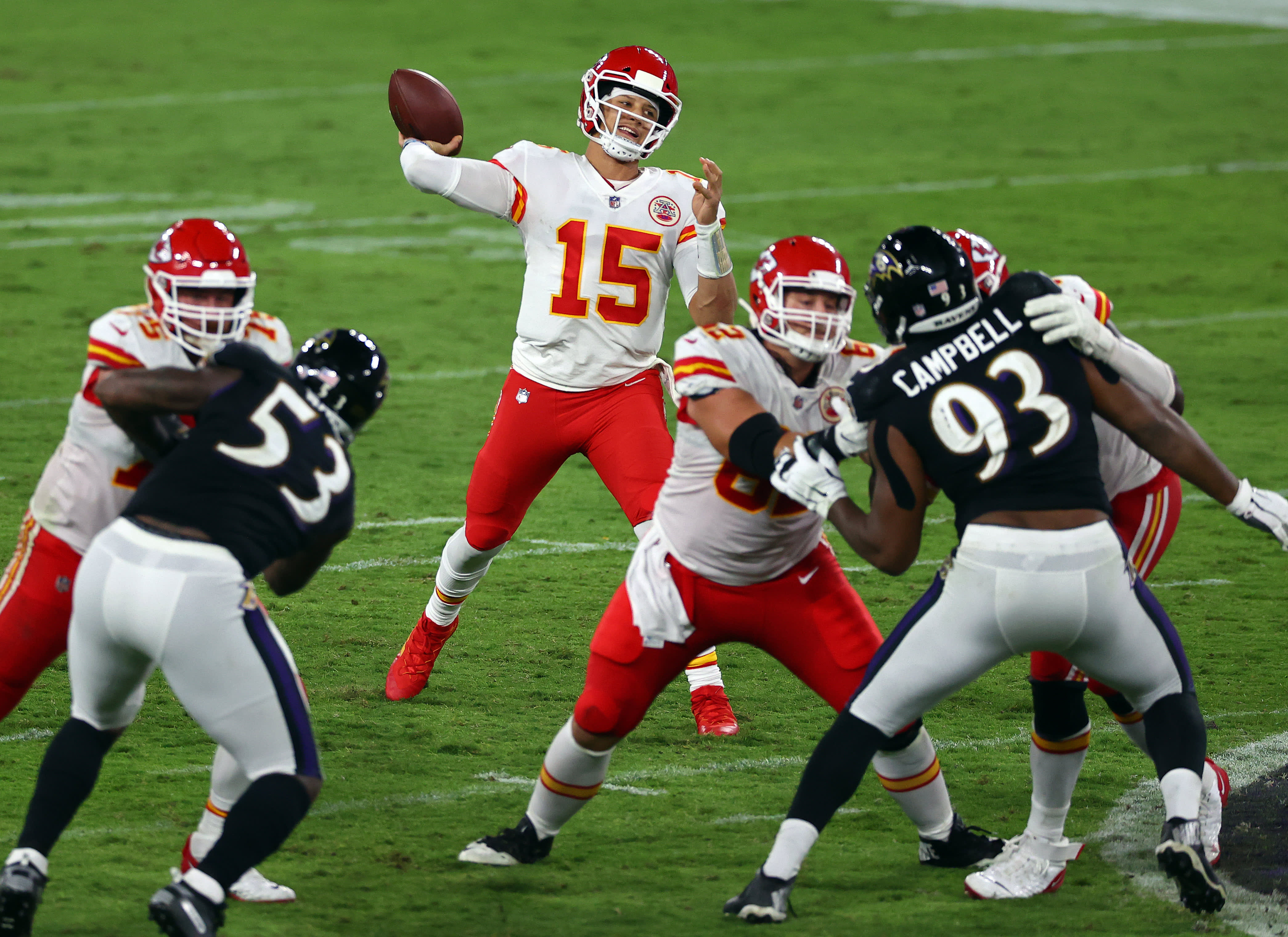 Chiefs Ravens Espn Monday Night Matchup Averages 14 Million Viewers