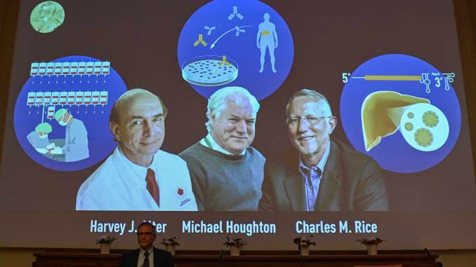 Virus-hunting trio wins Nobel for Hepatitis C discovery