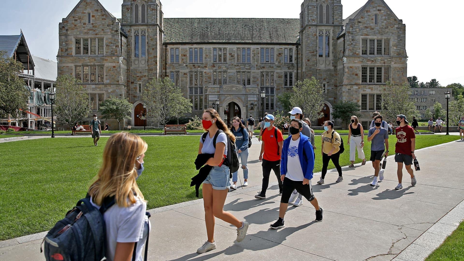 Boston College in Newton, Massachusetts.