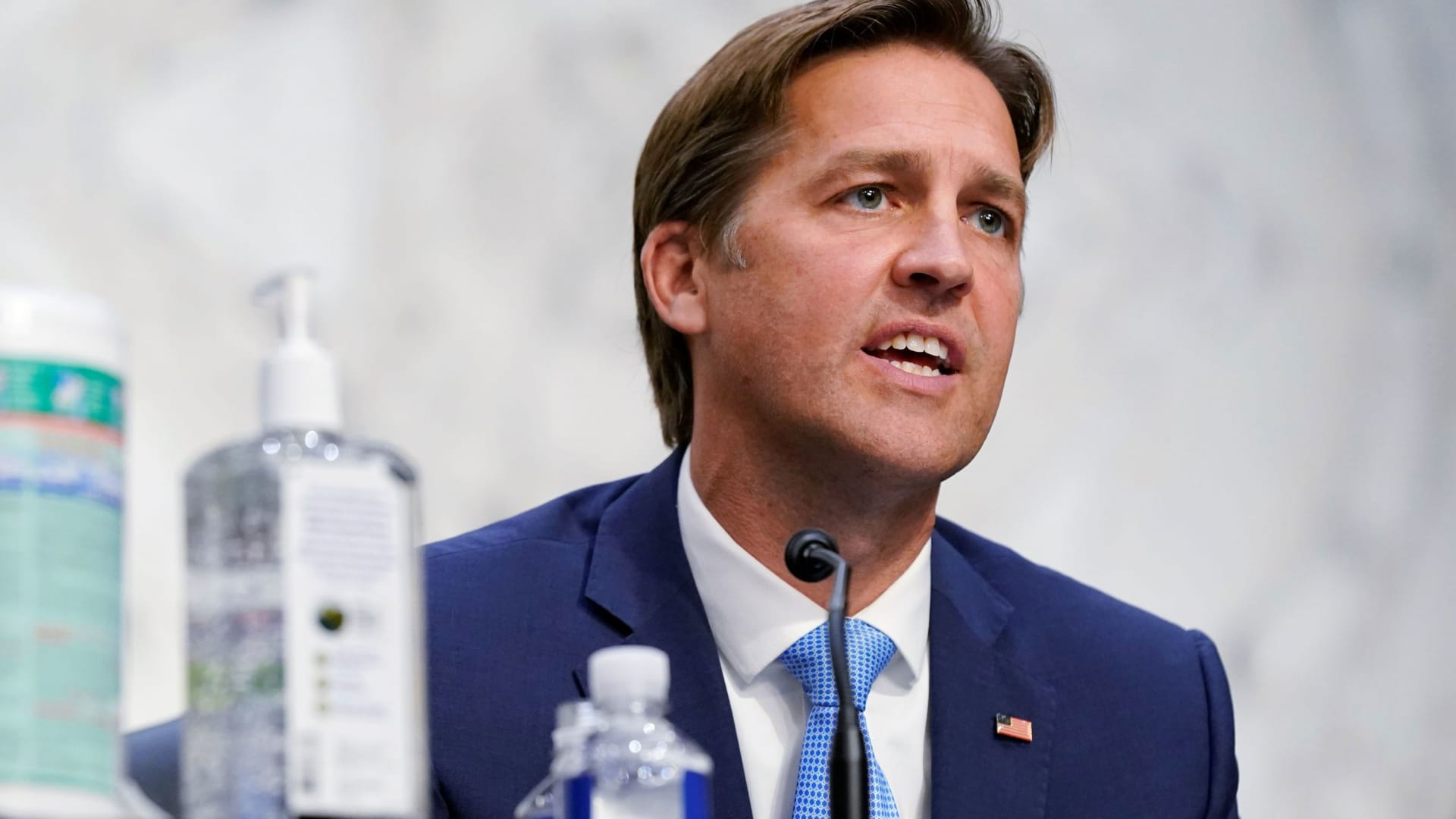 U.S. Senator Ben Sasse (R-NE) speaks during the U.S. Supreme Court nominee Judge Amy Coney Barrett's confirmation hearing before the Senate Judiciary Committee on Capitol Hill in Washington, D.C., October 13, 2020.