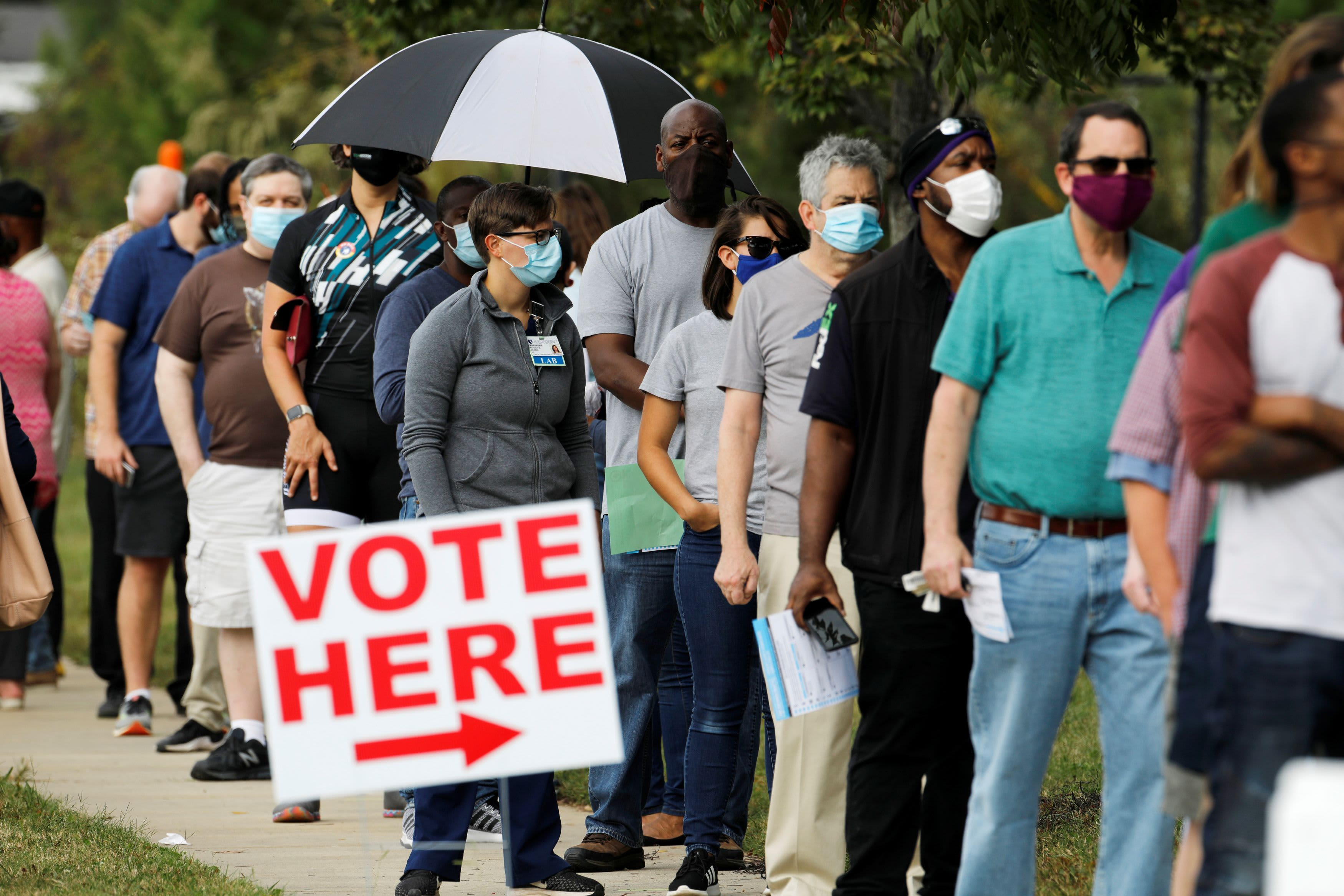 More than 35 million Americans have voted with two weeks until Election Day