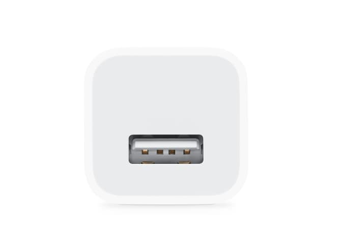 Apple's 5-watt iPhone charger.
