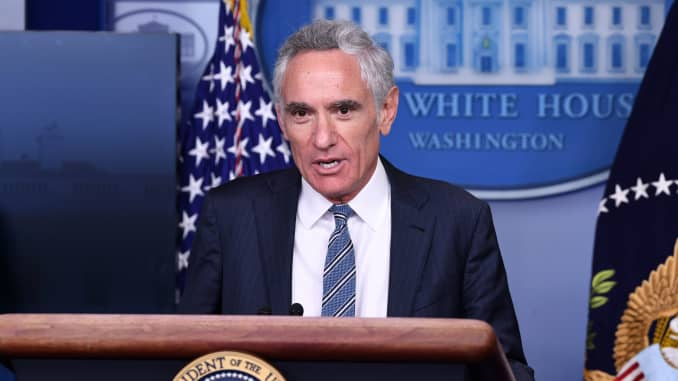 White House coronavirus adviser Dr. Scott Atlas speaks during a press conference in the Brady Press Briefing Room at the White House in Washington, DC, September 18, 2020.