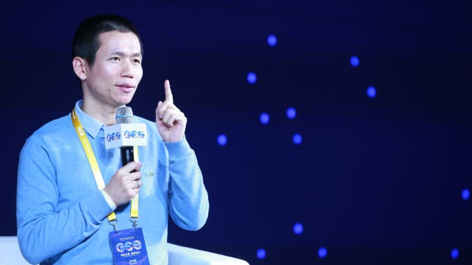 Tom Zhang Bangxin, founder and CEO of TAL Education Group, speaks during 2019 Global Education Summit on Nov. 25, 2019 in Beijing, China.