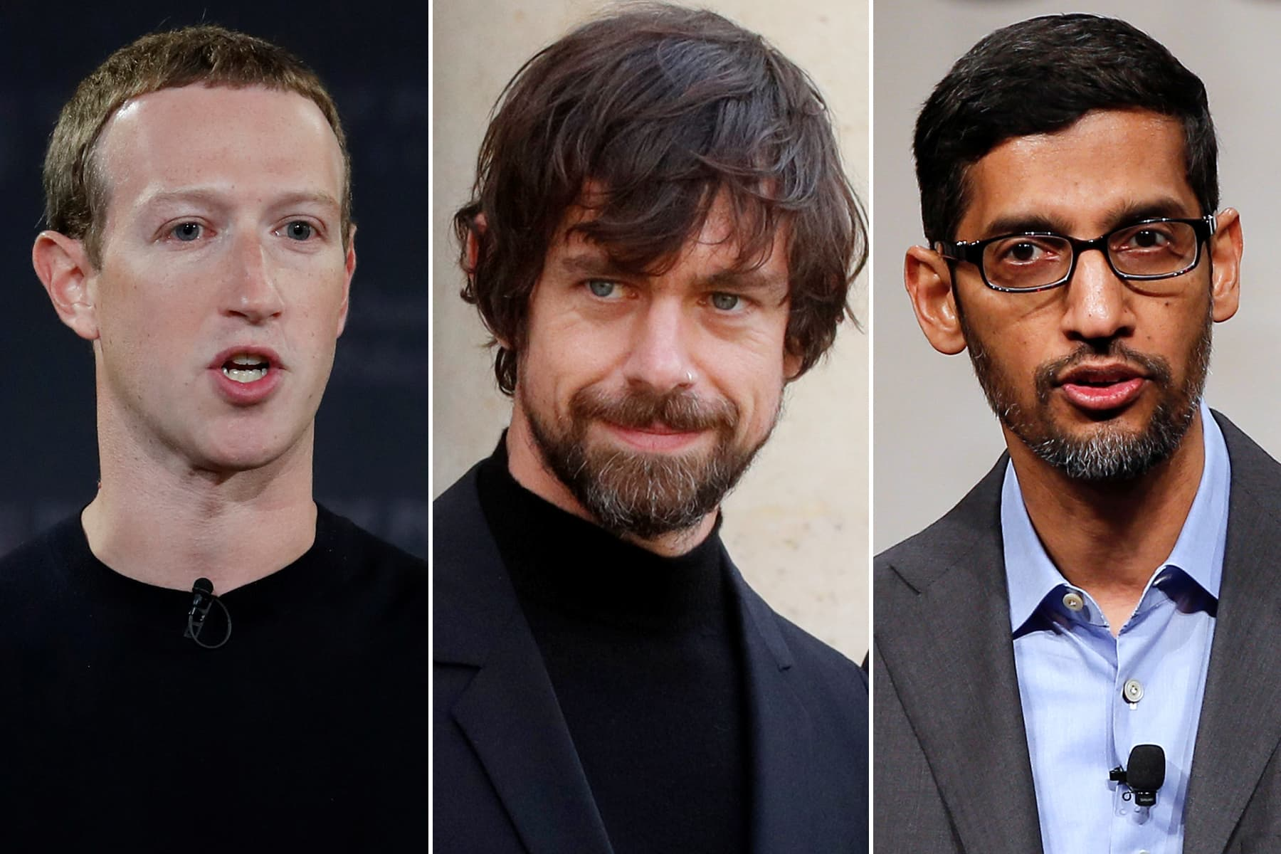 Facebook, Google and Twitter CEOs will make another appearance before Congress in March - CNBC