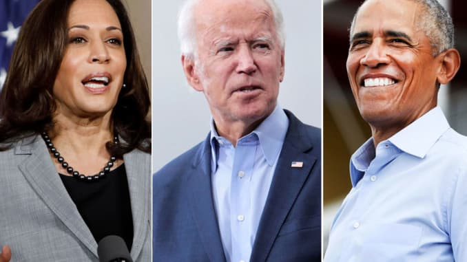 Joe Biden Barack Obama Kamala Harris Work In Concert To Reach Crucial Voters