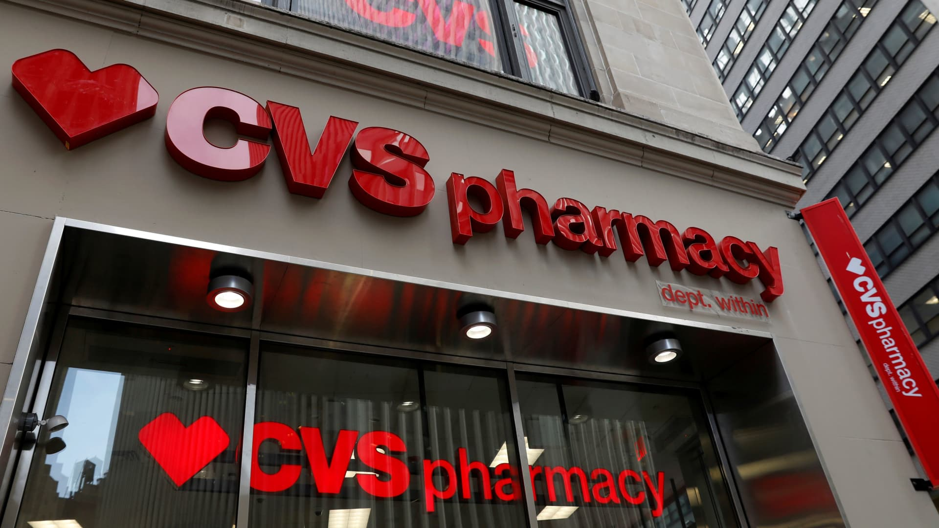 A CVS Pharmacy store is seen in the Manhattan borough of New York City, New York.