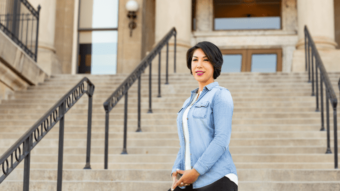 Paulette Jordan, Democratic nominee for Idaho's Senate seat.
