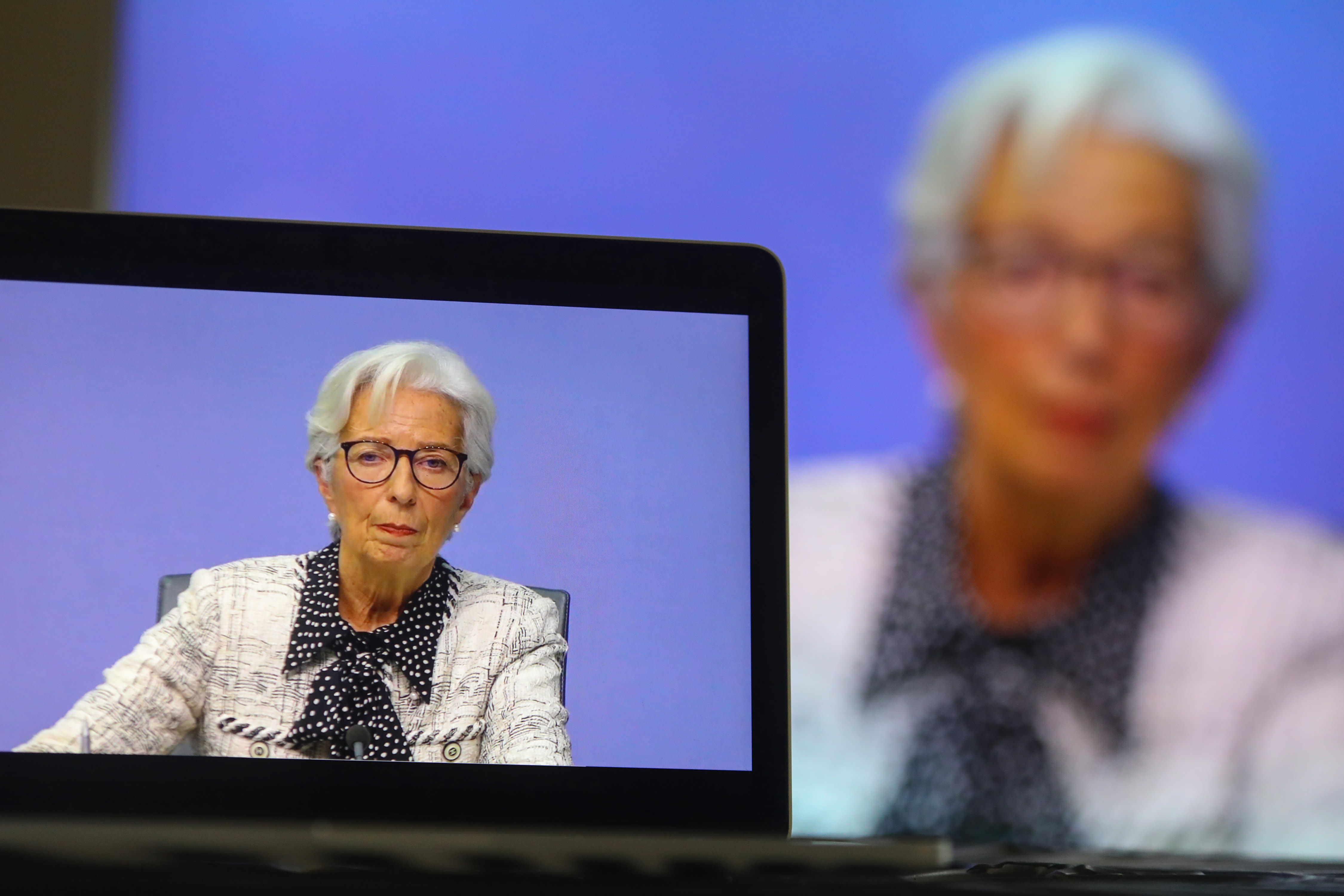 Watch Christine Lagarde speaking after the ECB's latest rate decision