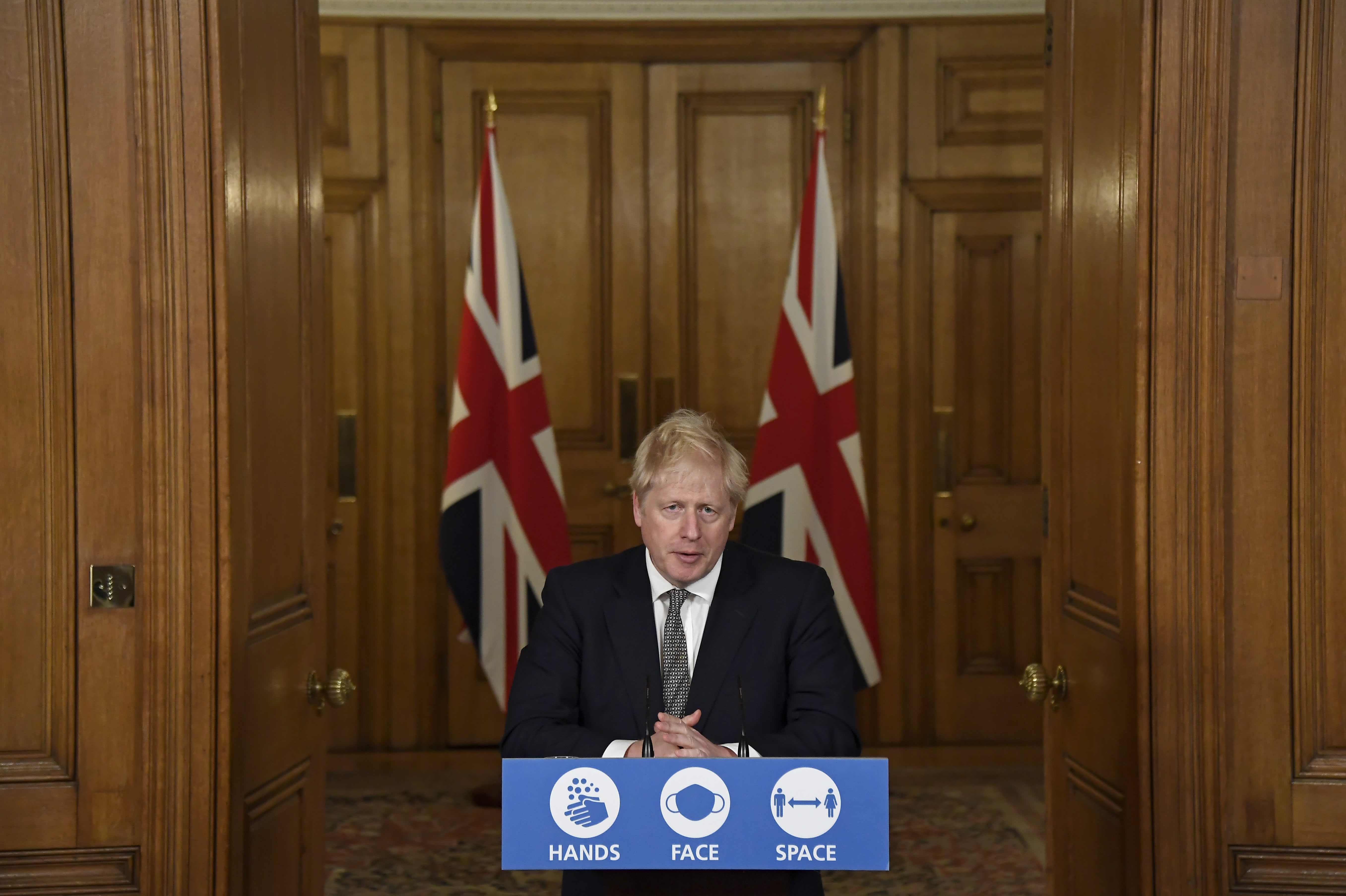 Prime Minister Boris Johnson imposes stay-at-home order in England as coronavirus cases rise thumbnail