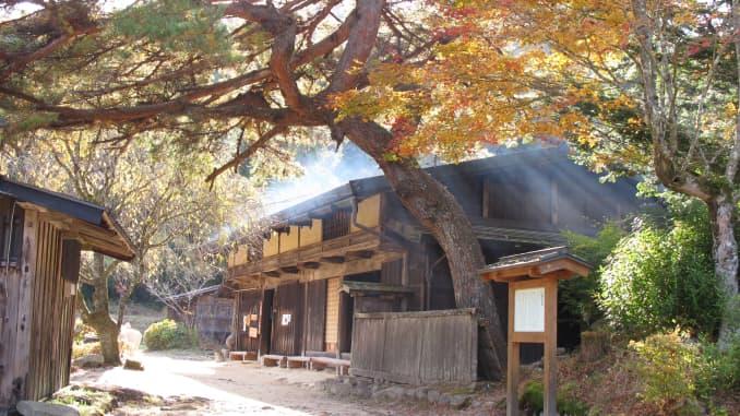 """Một quán trà cổ trên đường Nakasendo, một tuyến đường lịch sử được gọi là """"con đường xuyên núi"""", nối Kyoto với Tokyo."""