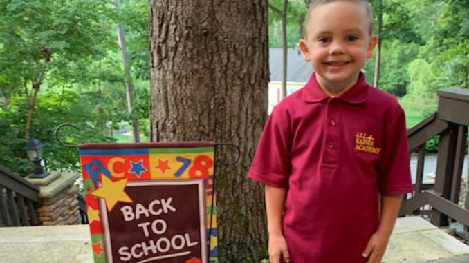 Jennifer Clayton enrolled her son, Robbie, in a private Catholic school this fall so he could attend first grade in-person.