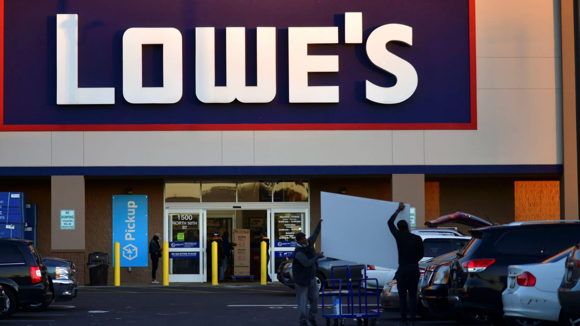 A Lowe's hardware store in Philadelphia.