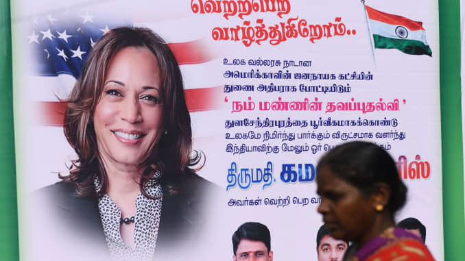 Harris S Ancestral Village In India Gets Festive As Biden Leads Count