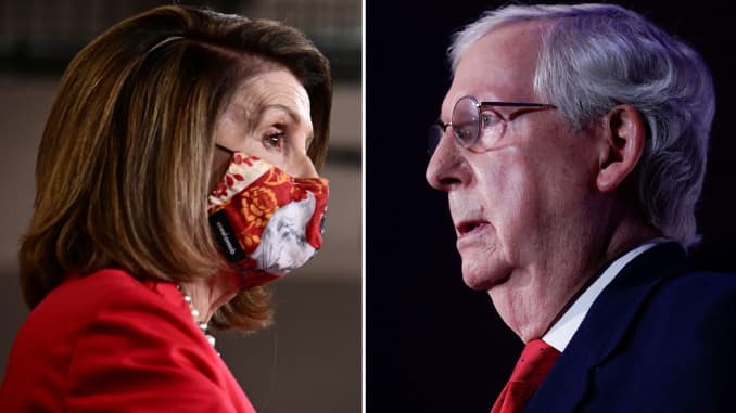 Speaker of the House Nancy Pelosi and Senate Majority Leader Mitch McConnell