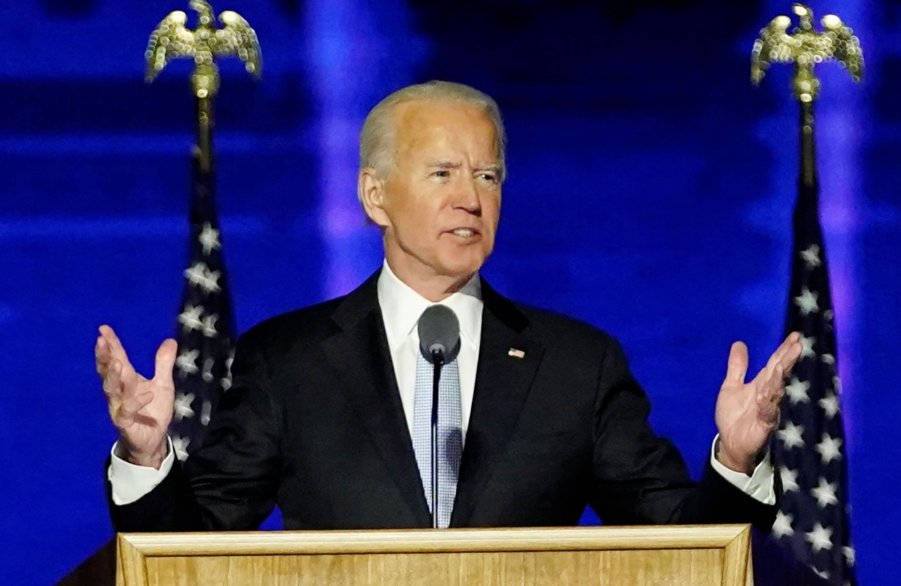 Watch Joe Biden, in his first speech as president-elect, urges unity: 'Time to heal in America'