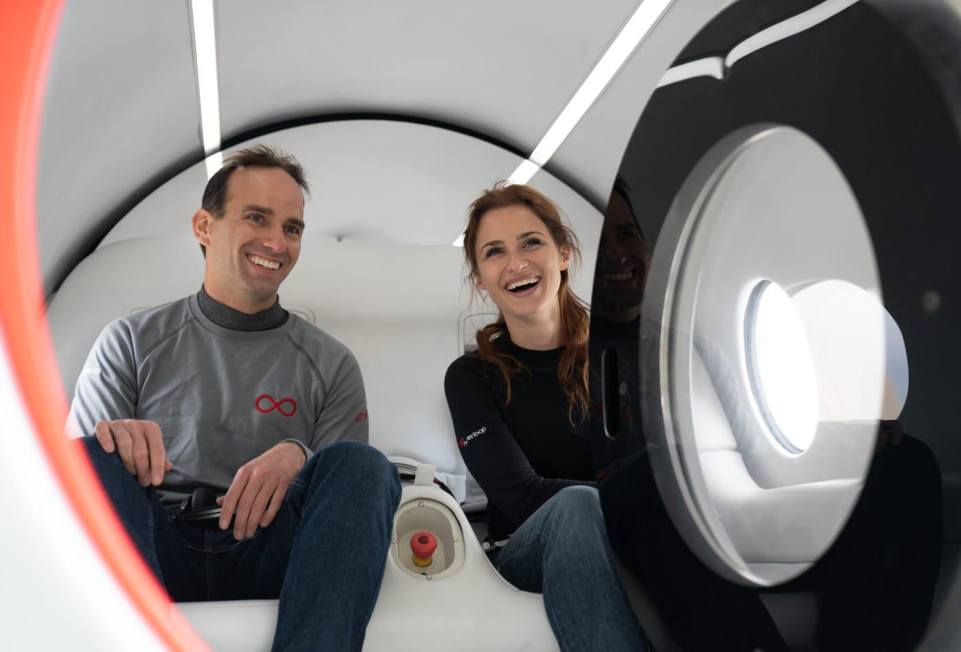 Virgin Hyperloop tests first passenger journey in Nevada