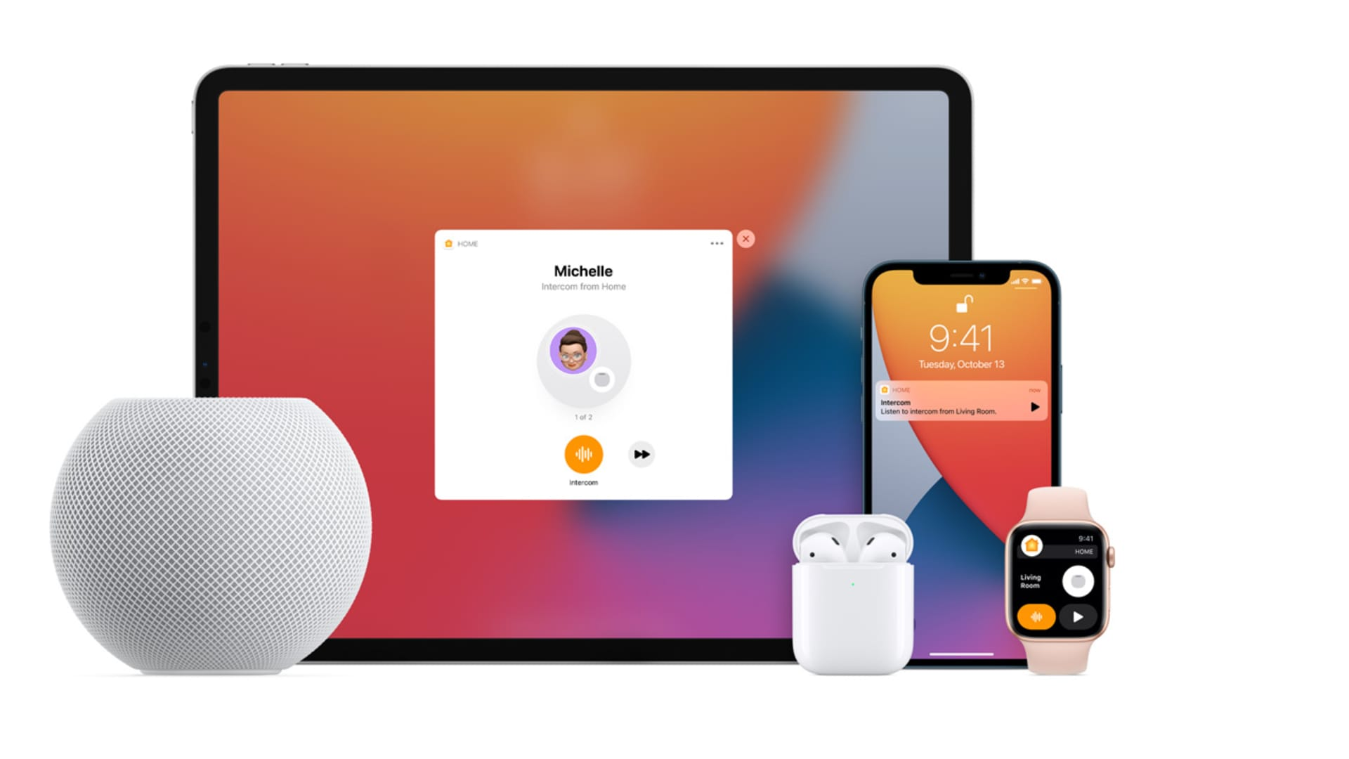 The HomePod Mini can act as an intercom and send a message to all of your Apple devices.