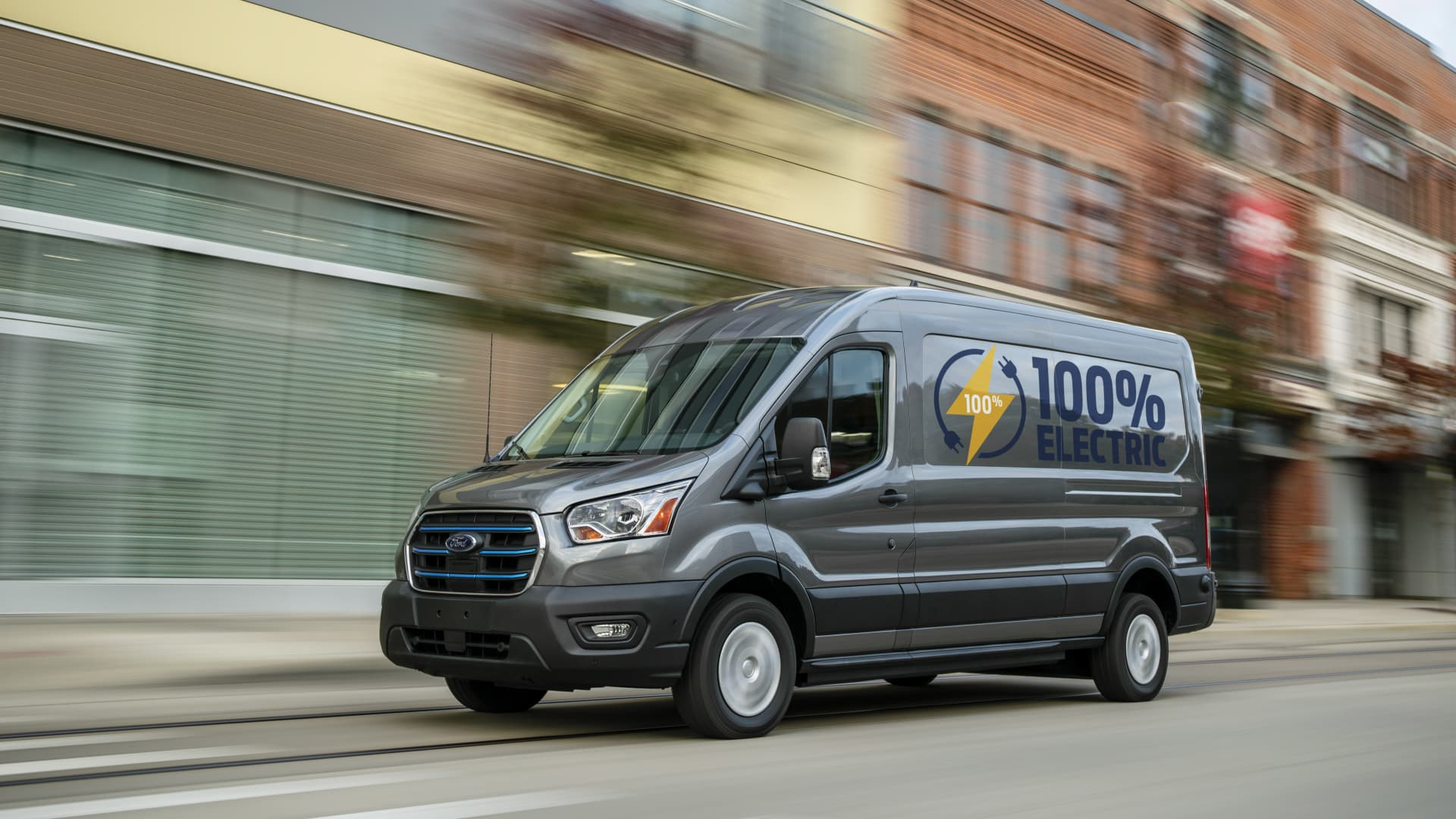 Ford unveiled its new all-electric Transit van on Nov. 12, 2020.