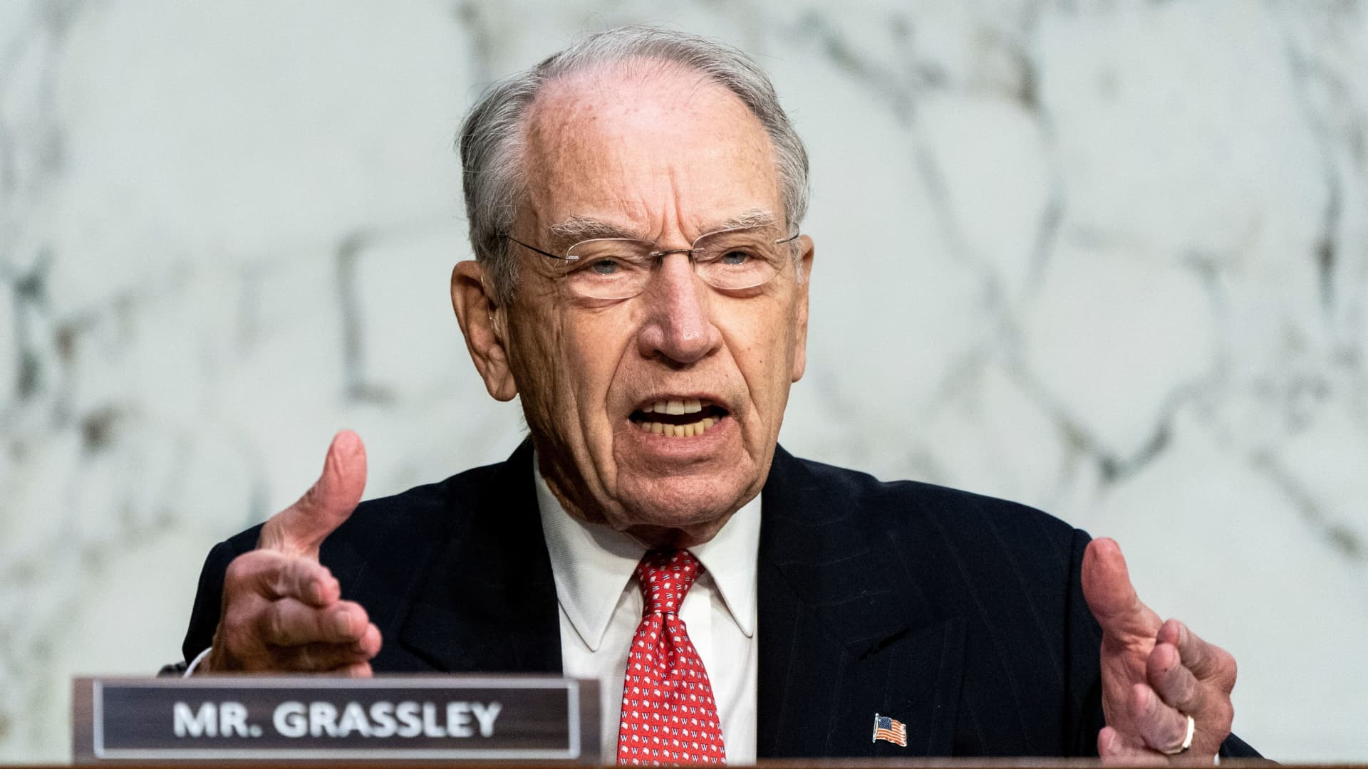Senator Chuck Grassley (R-IA) speaks during the third day of the confirmation hearing for Supreme Court nominee Judge Amy Coney Barrett before the Senate Judiciary Committee on Capitol Hill in Washington, DC, U.S., October 14, 2020.