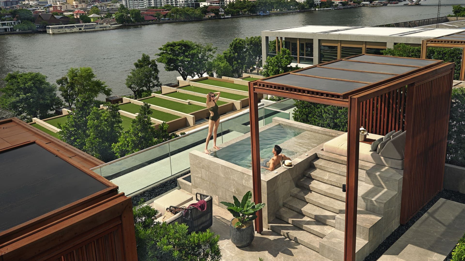 Capella Bangkok is located along the Chao Phraya River.