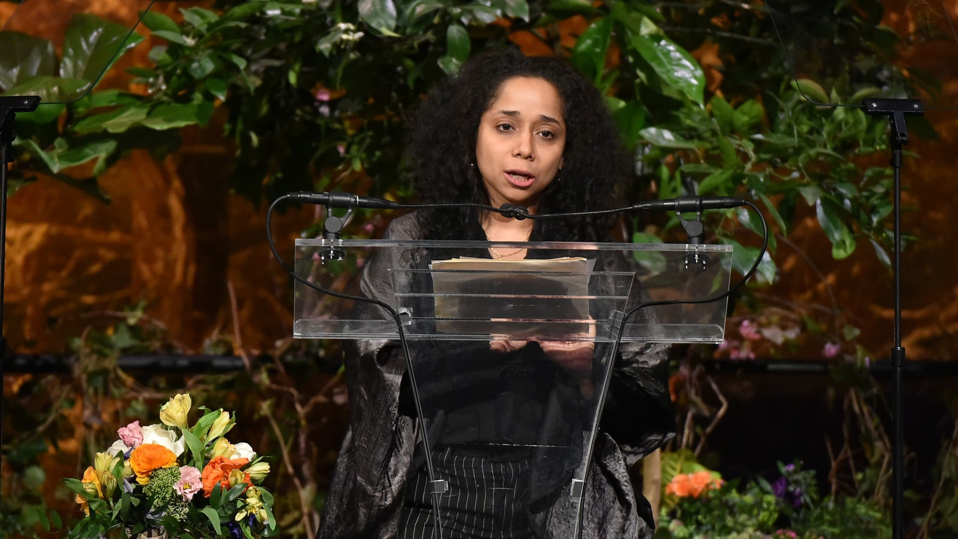 United States Ambassador to Uruguay, Julissa Reynoso speaks onstage at Variety's Power of Women New York presented by Lifetime at Cipriani 42nd Street on April 24, 2015 in New York City.