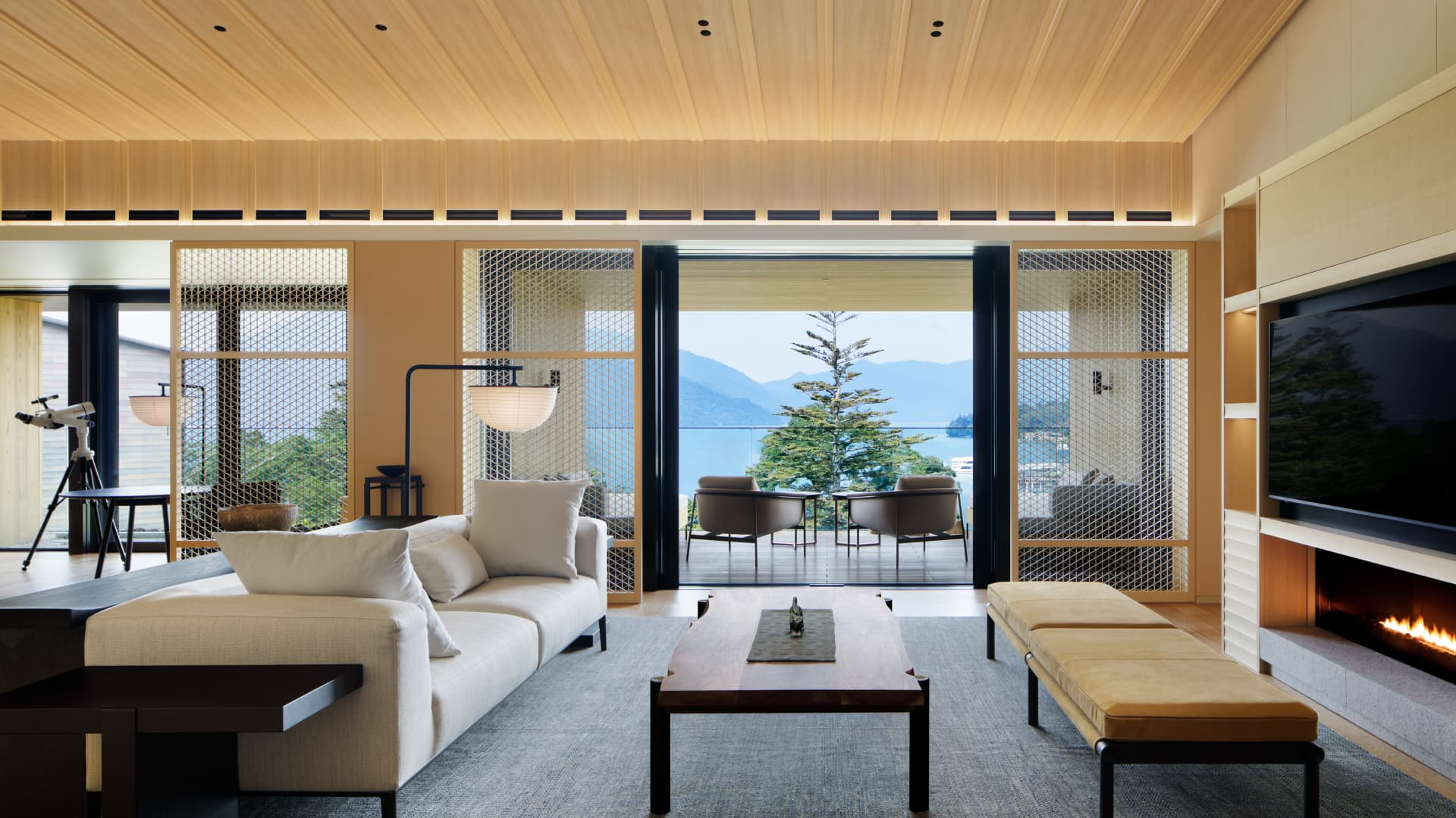 The lakeside Ritz-Carlton, Nikko is close to the UNESCO World Heritage shrines and temples of Nikko.