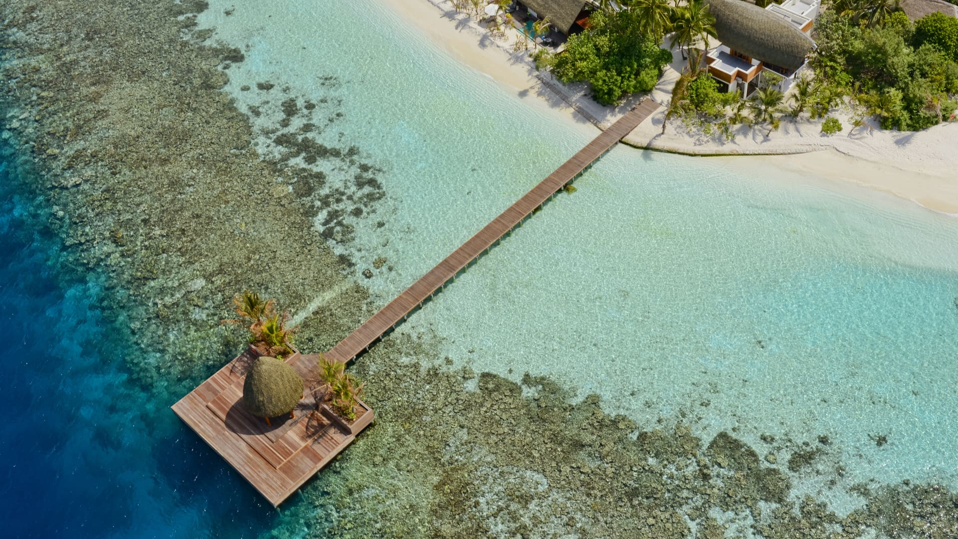 Kandholhu in the Maldives has just 30 guest rooms.