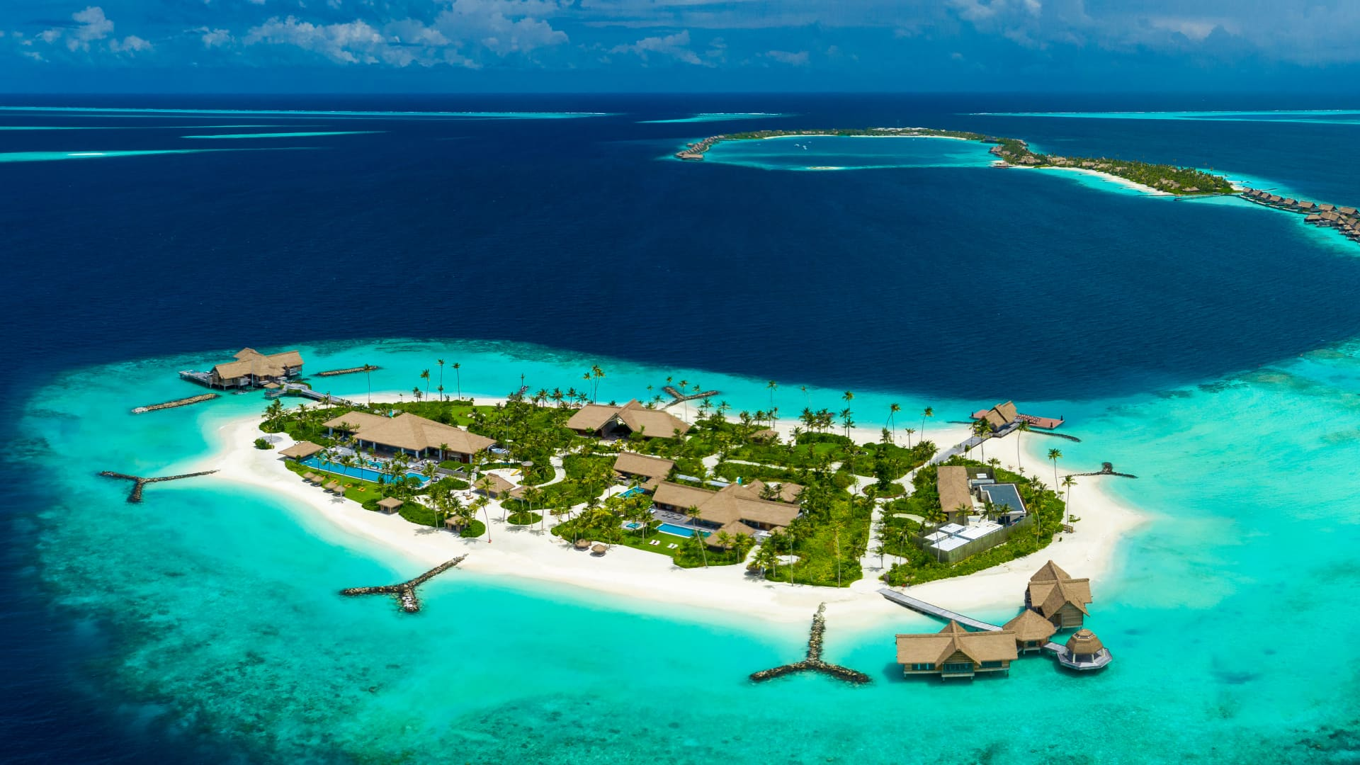 Travelers can book an entire island at Waldorf Astoria Maldives Ithaafushi.