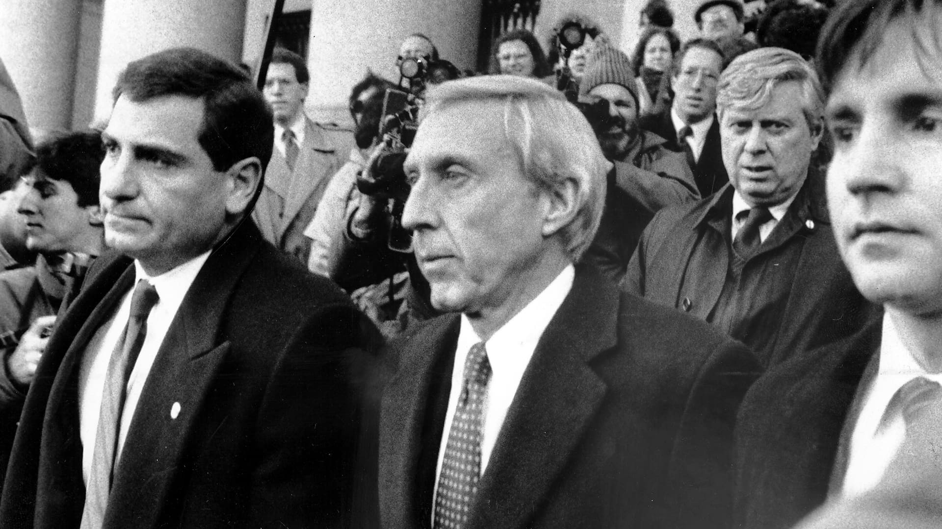 Ivan Boesky leaves Federal Court after sentencing in 1987.