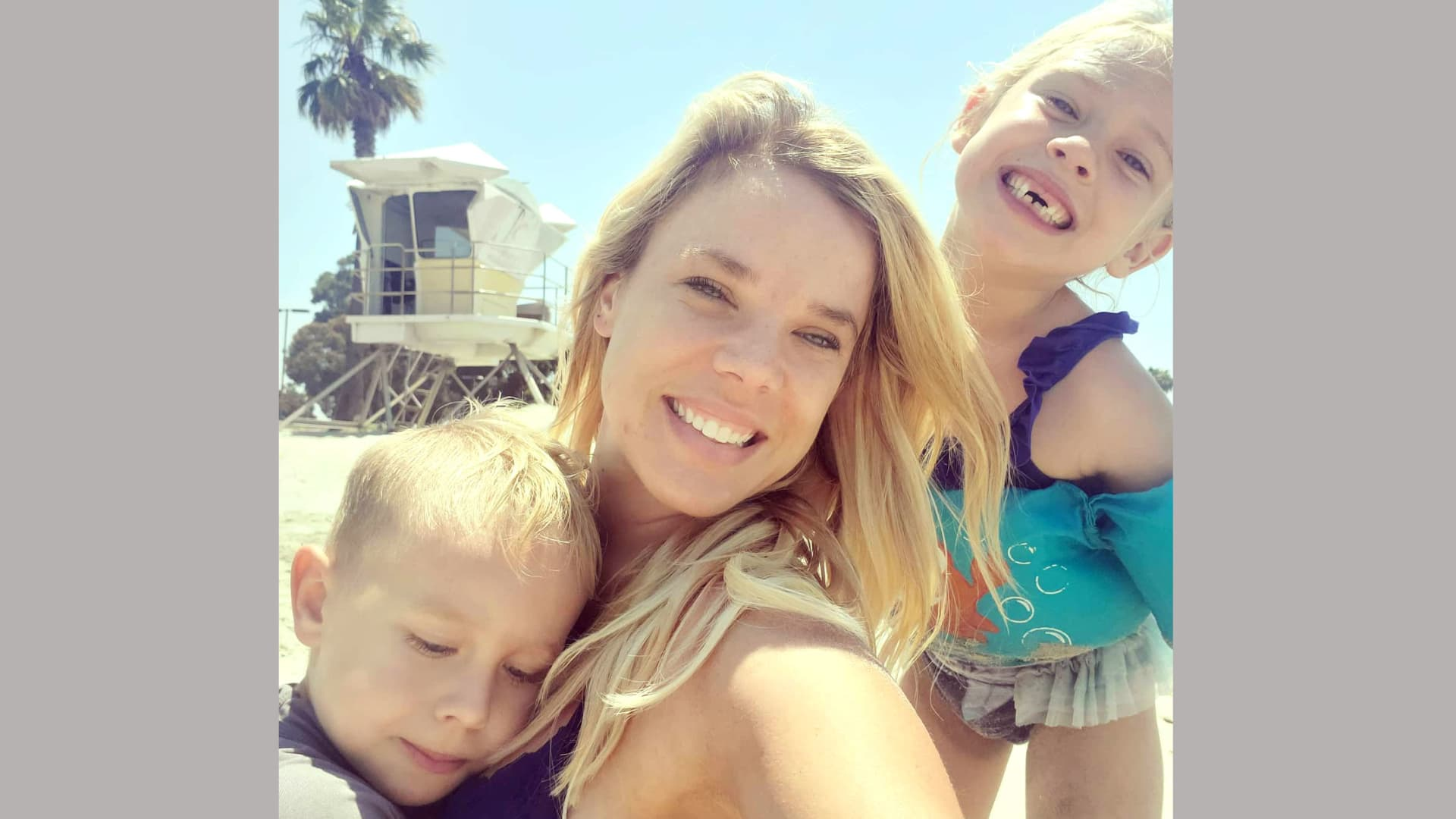 Jacalyn Shirley, with two of her three kids, had to adjust her work schedule to care for her children.