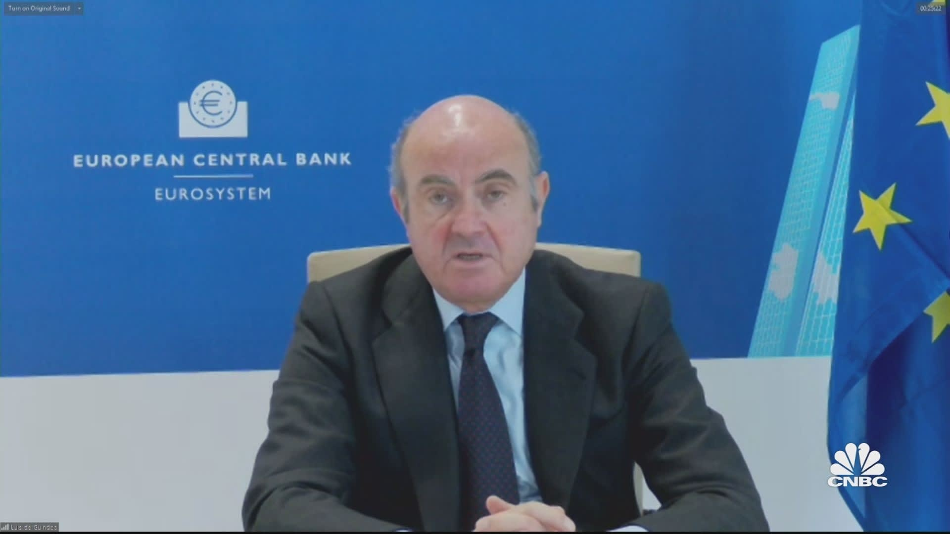 Watch CNBC`s full interview with ECB Vice-President Luis...
