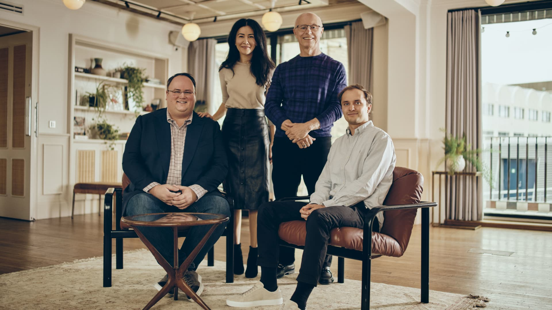 Sequoia investors (L-R): Matt Miller, Luciana Lixandru, Doug Leone, and George Robson.
