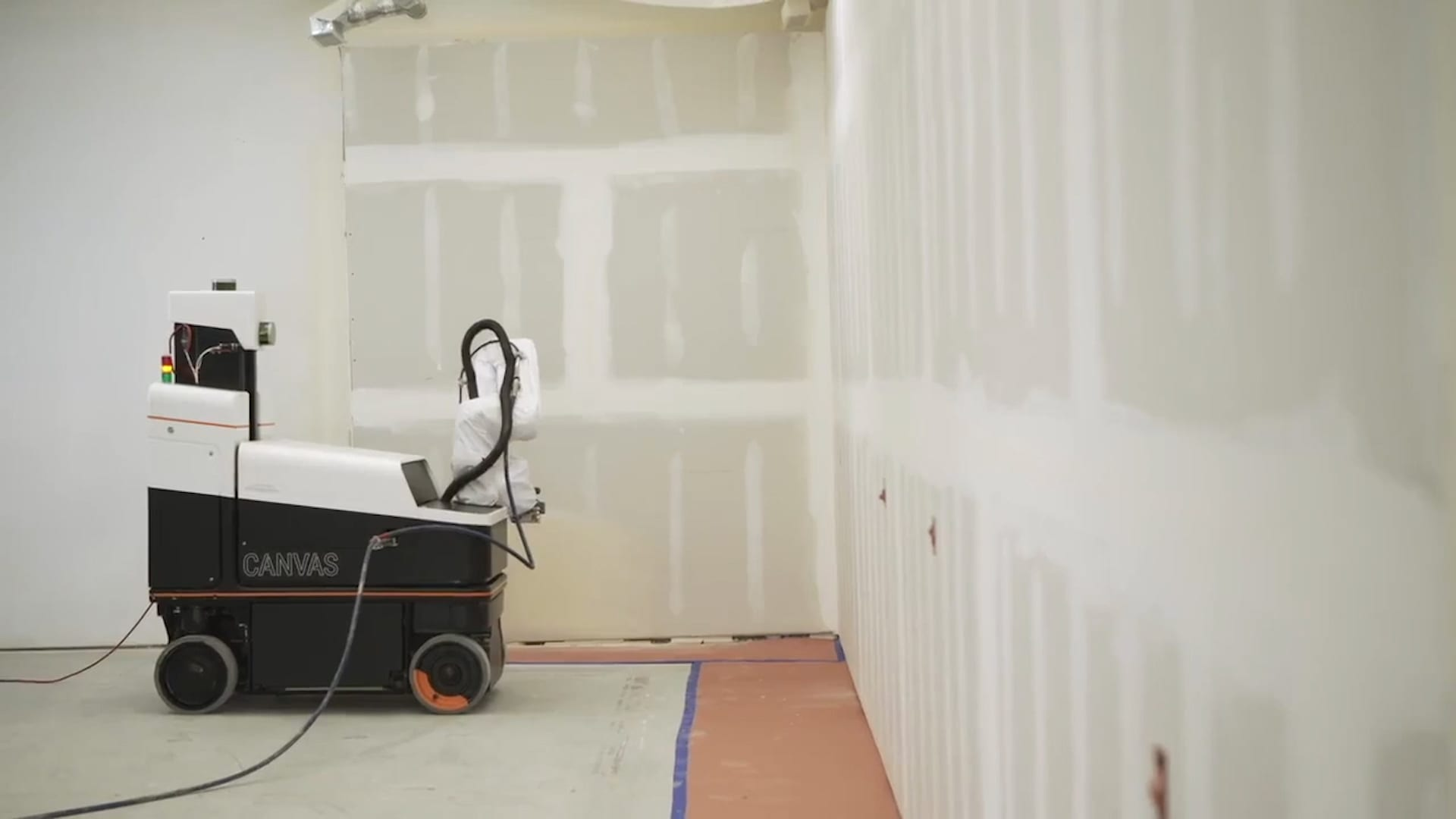 The Canvas robotic drywall system.