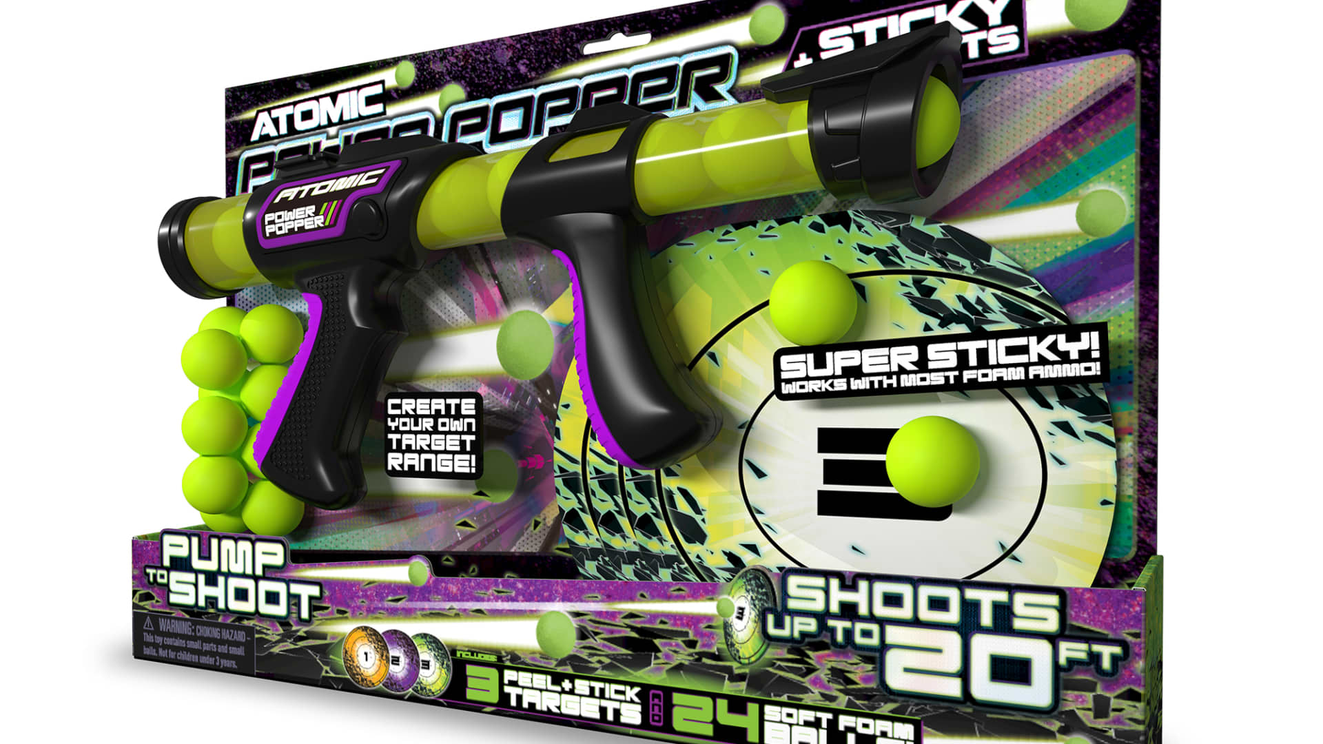 Atomic Power Popper with Sticky Targets from Wild Hog
