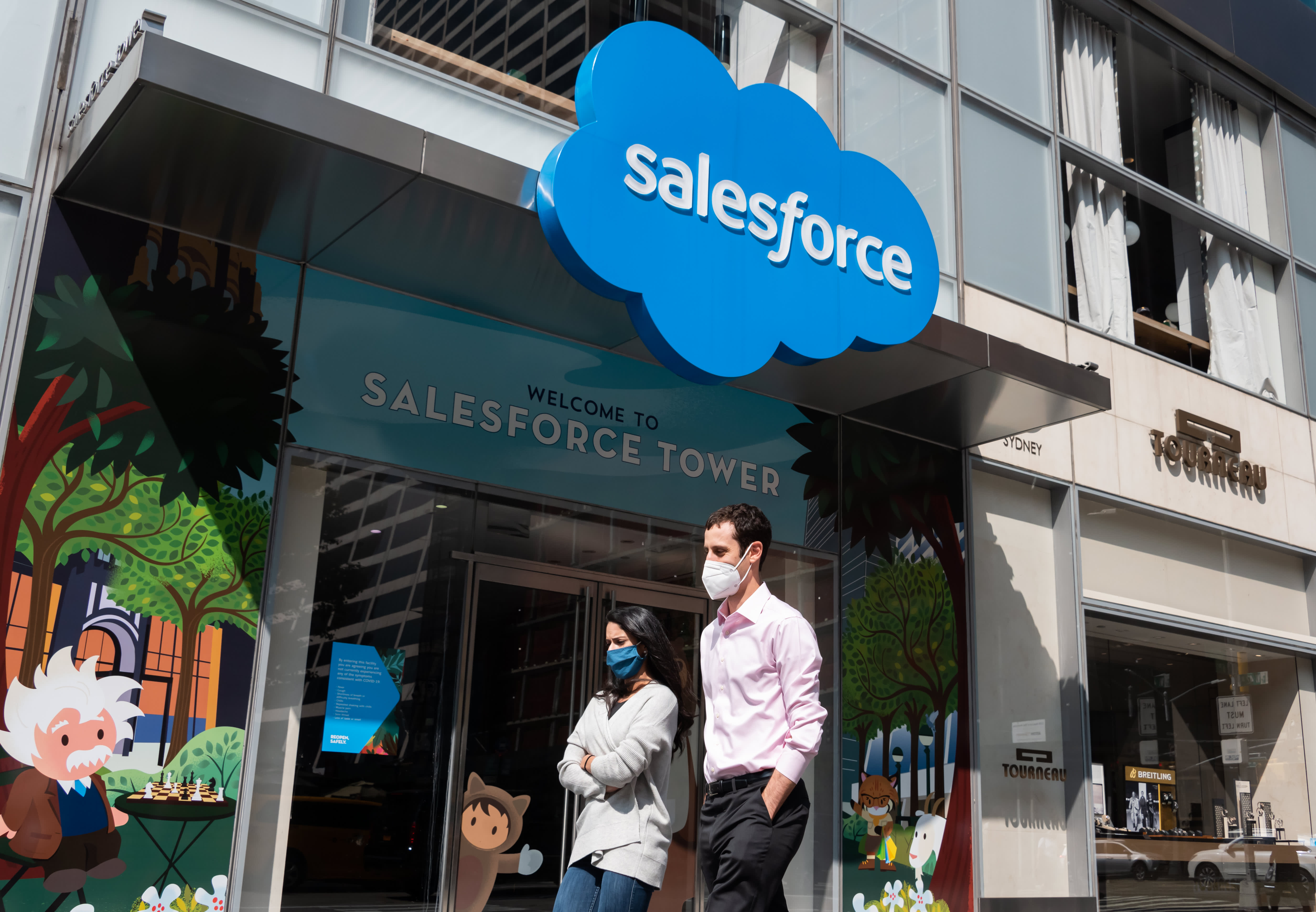 Stocks making the biggest moves after hours: Salesforce, Slack, Box and more